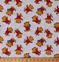 Cotton Daniel Tiger's Neighborhood Cute Kids Character on White Cotton Fabric Print by the Yard (15130W)