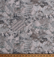 Cotton Songbook Hymnal Music Notes Musical Dove Hallelujah Worship Praise & Rejoice Cotton Fabric Print by the Yard (R210577-1045)