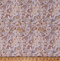 Cotton Mosaic Tiles Squares Mosaic Masterpiece Natural Cotton Fabric by the Yard (S4808-20-NATURAL)