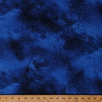 Cotton Stars Galaxy Starry Night Sky Space Blue Cotton Fabric Print by the Yard (NATURE-C6793-ROYAL)
