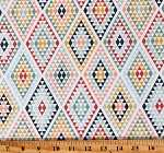 Cotton Triangles and Diamonds Geometric Pattern Dream Weaver Cream Cotton Fabric Print by the Yard (C9054-CREAM)