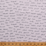 Cotton Words Friendship Adjectives Friends Moms Dads Appreciation Cotton Fabric Print by the Yard (52496-2)