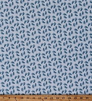 Cotton Baby Footprints Nursery Kids Children Babies Sweet Baby Boy Cotton Fabric Print by the Yard (C7855-LIGHT BLUE)