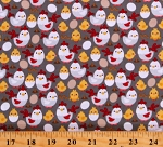 Cotton Chickens Hens Chicks Worms Eggs Farms Birds Farm Fowl Down on the Farm Gray Cotton Fabric Print by the Yard (C10074-GRAY)