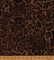 Cotton Leopard Print Jungle Animal Print Leopard Spots Skin Animals Brown Cotton Fabric Print by the Yard (32742-LEOPARD)