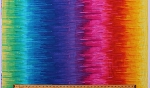 Cotton Rainbow Nightlife ROYGB Paint Look Stripes Striped Cotton Fabric Print by the Yard (NIGHT-C7304)