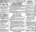 Cotton Headliner Headline Newspaper Newsprint Historic Historical Events Cotton Fabric Print by the Yard (BTR3972-White)