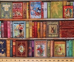 Cotton Library Books Classics Authentic Antique-look Book Covers Fairytales Cotton Fabric Print by the Yard (AXTD-19600-199ANTIQUE)