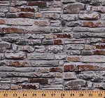 Cotton Rocks Stones Bricks Landscapes Nature Scapes Cotton Fabric Print by the Yard (21388-92)