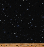 Cotton Stars Starry Night Sky Galaxy Space Astronomy The Living Universe Celestial Black Cotton Fabric Print by the Yard (AVRD-18883-325CELESTIAL)
