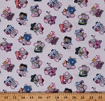 Cotton Dress-up Toys Kids Children Elephant Friends Cream Cotton Fabric Print by the Yard (17007CREAM)