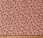 Cotton Bees Honeybees Bumblebees Insects Beekeepers on Pink A Gardening We Grow Cotton Fabric Print by the Yard (1649-26501-C)