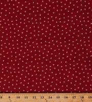 Cotton Paw Prints Paws Animals Dogs Cats My Family Pet Footprints Red Cotton Fabric Print by the Yard (120-16064)