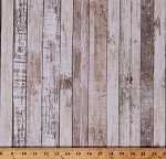 Cotton Landscape Barn Wood Boards Planks Wood Grain Floorboards Lumber Carpentry Cotton Fabric Print by the Yard (HOME-C7178MULTI)