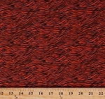 Cotton Tiger Stripes Jungle Animal Prints Orange Black Boo Basics Cotton Fabric Print by the Yard (05634-27)
