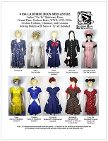 Ladies Go To Shirtwaist Dress Retro WWII 1900's Uniform Costume Sewing Pattern #134 (Pattern Only) Laughing Moon Mercantile Lmm134