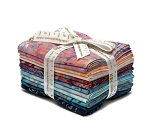 Fat Quarter Bundle Artisan Batiks Lafayette Craftsy Assortment Pink Peach Aqua Blue Purple 12 Fat Quarters (FQ-964-12) M203.04