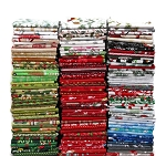 10 Fat Quarters - Christmas Holiday Festive Winter Assorted Quality Quilters Cotton Fabric Bundle M227.04