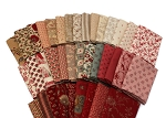 10 Fat Quarters - Assorted Moda French General France Calico Floral Flowers Red Pink Cream Classic Reproduction Quality Quilters Cotton Fabrics M229.01
