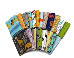 10 Fat Quarters - Kids African Prints Africa Animals Tribal Geometric Children's Assorted Quality Quilters Cotton Fabric (M491.13)