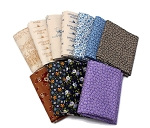 10 Assorted Fat Quarters - Little House on the Prairie Laura Ingalls Frontier Reproduction Look Quality Cotton Fat Quarter Bundle M492.22