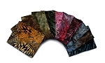 10 Fat Quarters - Batik Dark Tones Leaves Quilter's Batik Quality Cotton Fabrics M524.01