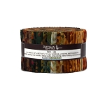 Jelly Roll Artisan Batiks Cornucopia by Lunn Studios Autumn Fall Autumnal Leaves Quilter's 2.5