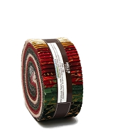 Jelly Roll Winter's Grandeur Holiday Colorstory Christmas Festive Winter Gold Metallic Red Green Black Cream 2.5