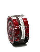 Jelly Roll Winter's Grandeur Scarlet Colorstory Christmas Festive Winter Metallic Silver Red Black Gray White 2.5