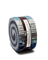 Jelly Roll Winter's Grandeur Sky Colorstory Christmas Festive Winter Silver Metallic Blue Gray 2.5