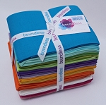 Fat Quarter Bundle - Va Va Vibrant Solids Bright Colors Boundless Fabrics by Craftsy 20 Count Fat Quarters (1-10-402-25) M535.16