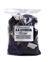 Genuine Leather Scraps - 1 Pound Bag Assorted Leather Fabrics Pieces - May have small imperfections (See description for details) M543.01