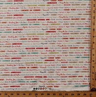 Cotton Farmhouse Kitchen Hobby Farm Sayings Words Allover Country Cotton Fabric Print by the Yard (20252-14)