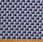 Cotton Cute Mini Elephants Jungle African Animals Kids White Blue Cotton Fabric Print by the Yard (CX-6547)