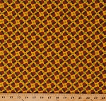 Cotton Acorns Nuts Autumn Fall Thanksgiving Thankful Gobble Gobble Yellow Cotton Fabric Print by the Yard (9619-YELLOW)