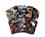 10 Fat Quarters Assorted Trains Locomotive Engine Railway Railroads Tracks Trains Signs Express Engineer Transportation Fat Quarter Bundle M491.04