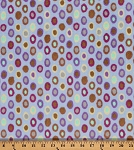 Fleece Rings Circles Circle Multi Color Fleece Fabric Print by the Yard (MFBM001SKY)