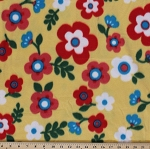 Arctic Fleece Yellow Floral Flowers Springtime Fleece Fabric Print by the Yard 99228-1N-Yellow