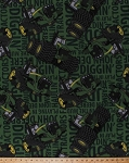 Fleece John Deere Tractors Tractor on Green Text Words Fleece Fabric Print by the Yard (54787-6470710s)