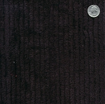 Cotton Terry Chenille Fabric by the Yard - Black (TC0509-596)