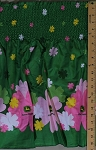 Pre-Smocked Shirred Sundress Fabric John Deere Floral Pink Green Fabric By the Yard (43747-09133)