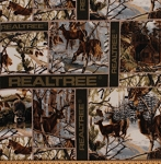 Fleece Realtree White Winter Blocks Camouflage Deer Hunting Fabric Print by the Yard 01505s