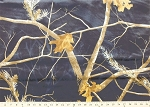 Realtree® Camouflage Dark Blue Trees Branches Leaves Hunting Camo Twill Fabric By the Yard (1122674-991)