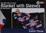 Comfy Throw Fleece Blanket with Sleeves Licensed College- University of Arizona Wildcats