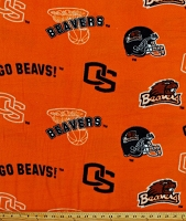 Oregon State University™ Beavers™ College Fleece Fabric Print by the yard (sos035s)