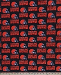 Cotton Cleveland Browns NFL Pro Football Cotton Fabric Print (s6735df)
