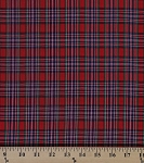 Tartan Plaids Cameron Polyester Cotton Red Green Blue Plaid Check Fabric By the Yard (03-CAMERON)