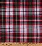 Tartan Plaids Madres Polyester Cotton Red White Blue Green Yellow Check Plaid By the Yard (05-MADRAS)