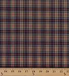 Tartan Plaids Gordon Polyester Cotton Tan Red Blue Yellow White Plaid Check Fabric By the Yard (15-GORDON)