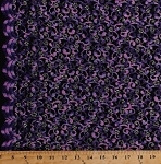 Nylon Spandex Purple Metallic Embroidered Black Silver Stretch Lace Fabric By the Yard (S-9N)